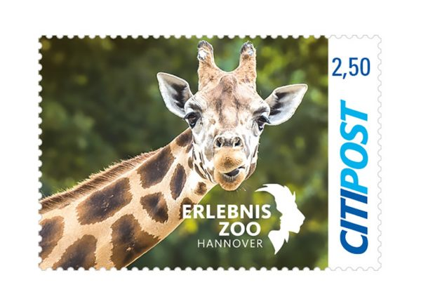 Briefmarke 150 Jahre Erlebniszoo Hannover